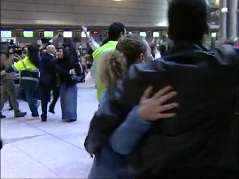 Dancing in airport