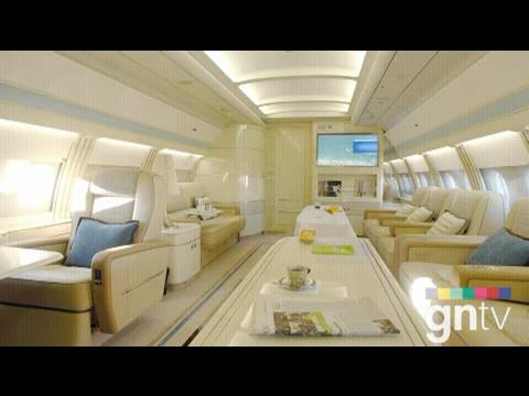 Flying in style in Airbus private jet